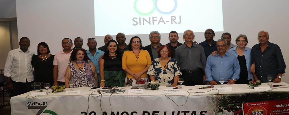 Sinfa-RJ comemora 30 anos com ato político e coquetel dançante