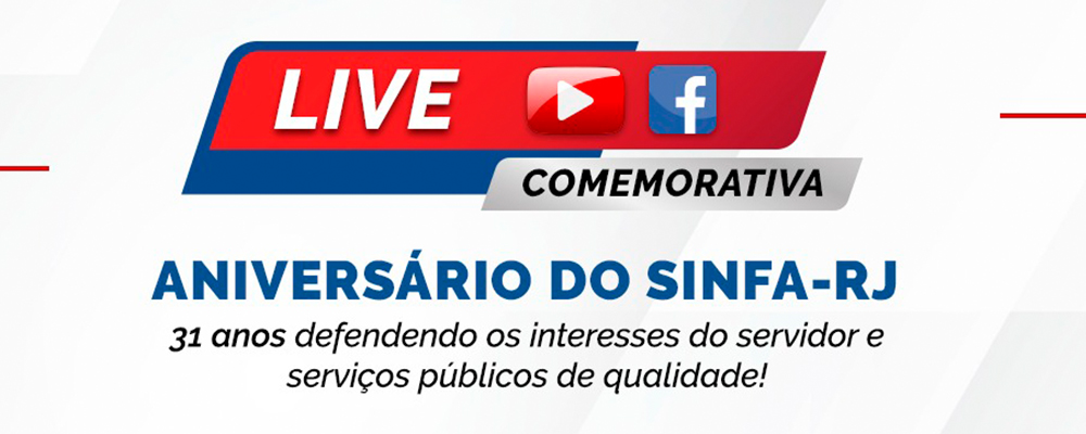 Assista a Live de Aniversário do Sinfa-RJ